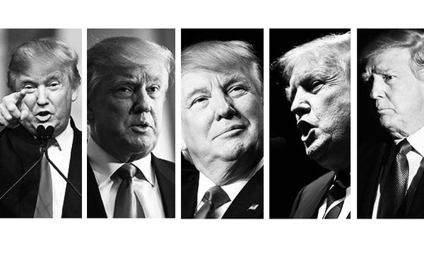 Las caras de Donald J. Trump.