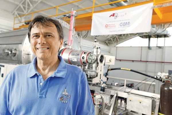 El astronauta costarricense Franklin Chang Díaz.