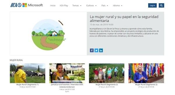 La plataforma brinda contenidos en tres idiomas y se puede consultar desde un teléfono, tableta, o computadora. Foto: IICA Play.