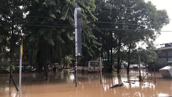Parrita centro, viernes 6 de octubre, después del paso de la tormenta tropical Nate.
