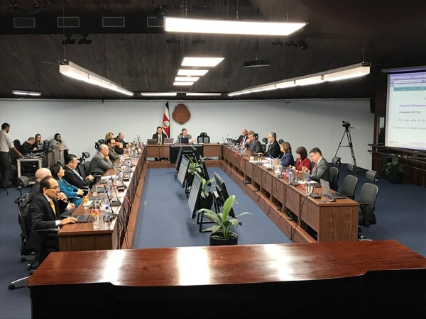 Magistrados de la Corte Plena. Fotografía: Carlos Arguedas