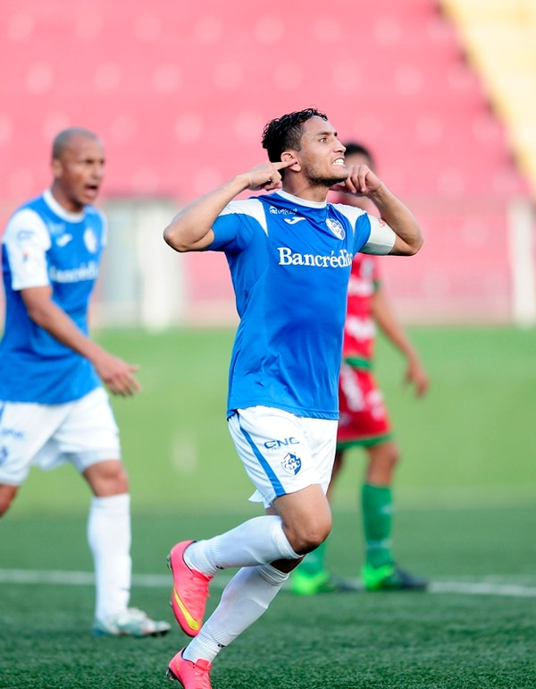 Rándall Brenes festeja el gol frente a Carmelita. | JOHN DURÁN
