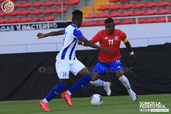 Luis Díaz considera que el partido amistoso entre las selecciones Sub 23 de Costa Rica y Honduras fue muy provechoso, a menos de un mes del Preolímpico. Fotografía: Prensa Fedefútbol