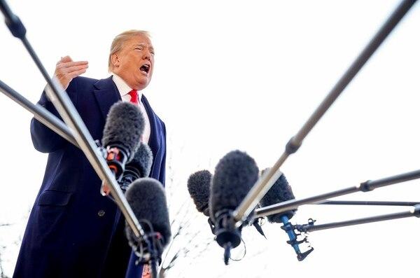 Donald Trump, presidente de Estados Unidos, informó este martes sobre la sustitución de Tillerson. Foto: AP