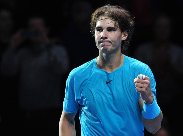 El español Rafael Nadal ratificó ayer la paternidad que mantiene sobre Roger Federer, a quien derrotó en 22 de los 32 partidos que disputaron. | AFP