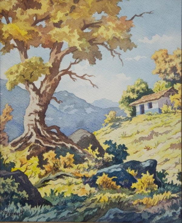 Pintura de Fausto Pacheco. Pertenece a la colección del Banco Central de Costa Rica.