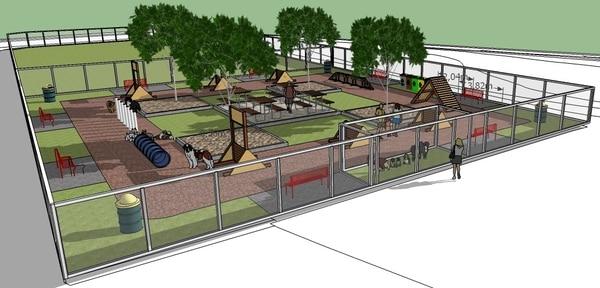 Los planos contemplan, incluso, un espacio tipo preámbulo, donde los perros podrán recibir a cada uno de los caninos que se acerque a los parques.