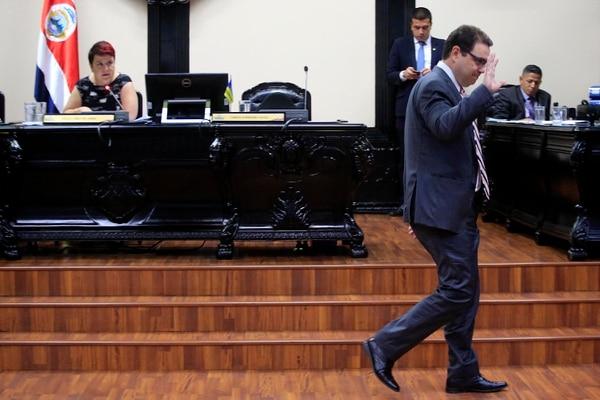 Carlos Ricardo Benavides, presidente legislativo. Foto: Rafael Pacheco