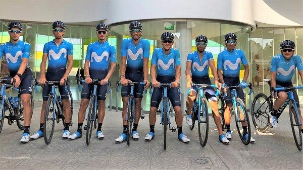 Andrey Amador es uno de los ciclistas que correrán la Vuelta a España. Fotografía: Movistar Team