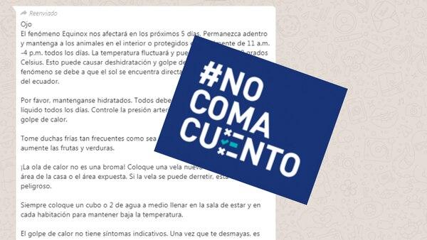 #NoComaCuento: Fenómeno ambiental 'Equinox' no existe y no afectara a Costa Rica.