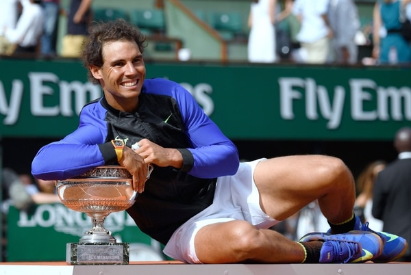 Rafael Nadal tras ganar el Roland Garros.