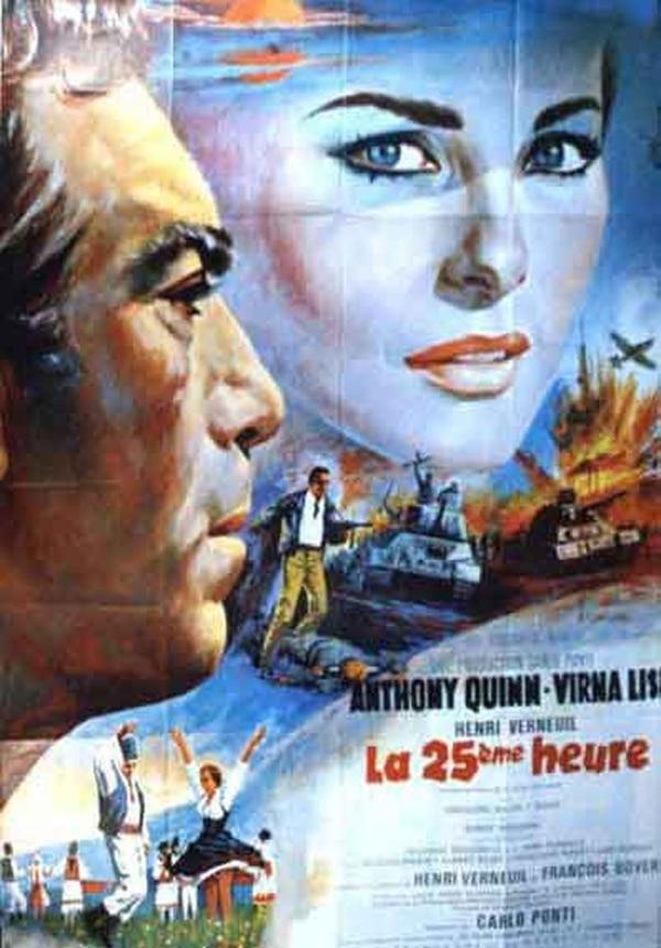 Póster promocional de 'La hora 25', cinta protagonizada por Anthony Quinn. Foto: MGM.