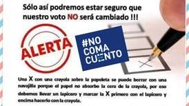 #NoComaCuento: Crayola que se usará para votar en elecciones municipales no se borra con facilidad