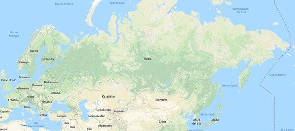 Mapa de Rusia.