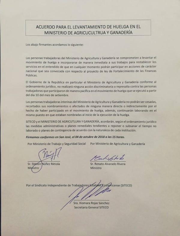 Acuerdo sindicato MAG
