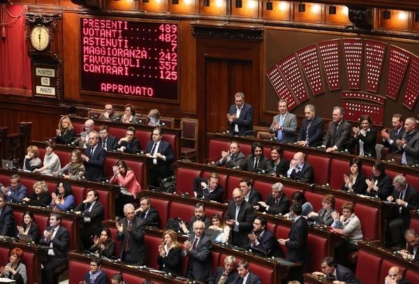 Vista de la Cámara Baja italiana en la votación de la reforma. | EFE