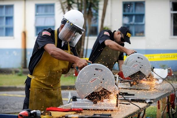 El miércoles anterior se culminó un proceso de destrucción, durante 22 días, de 21.318 armas de todo tipo en el Arsenal Nacional, en Dulce Nombre de Coronado. Al acto asistió la presidenta Laura Chinchilla. | LUIS NAVARRO.