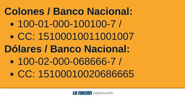 Cuentas Banco Nacional.
