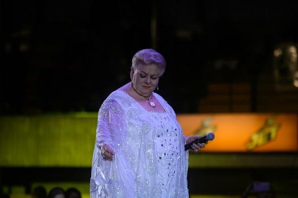 Paquita la del Barrio durante su presentación en el Festival Ranchero de las fiestas de Palmares 2019. Foto: Diana Méndez