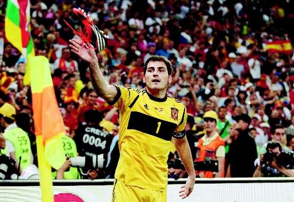 El 28 de junio del 2012, Íker Casillas atajó para España ante Portugal en juego de la Euro que se realizó en Ucrania. / Archivo