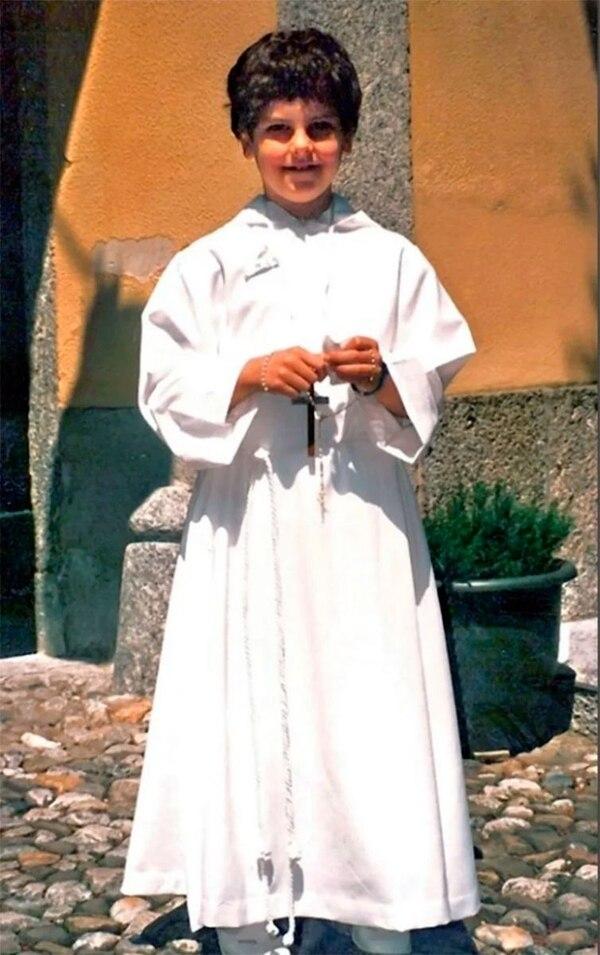 Carlo Acutis el día de su primera comunión. A partir de ese momento, acuñaría la frase