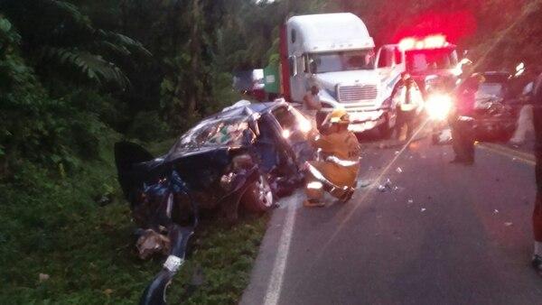 La colisión se presentó a las 4:53 a. m. en la ruta 32.