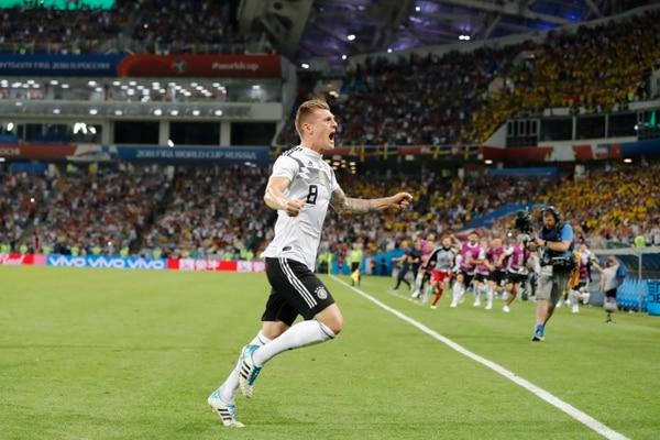 Toni Kroos consiguió el gol de la victoria en el epílogo. Fotografía: AP.
