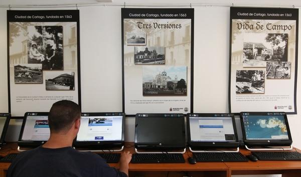 Luego de un proceso de cuatro años, a mediados de este mes, la comunidad de Llano Grande de Cartago inauguró un CECI equipado con 20 computadoras . | JEFFREY ZAMORA.