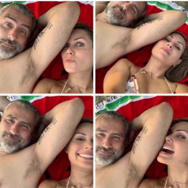 Literalmente como tortolitos pasaron Otto Guevara y su novia, Virgina Ramos, durante sus vacaciones en Bocas del Toro. Foto IG