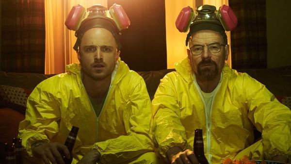 Jesse Pinkman (Aaron Paul) y Walter White (Bryan Cranston), los protagonistas de Breaking Bad. Cortesía de AMC