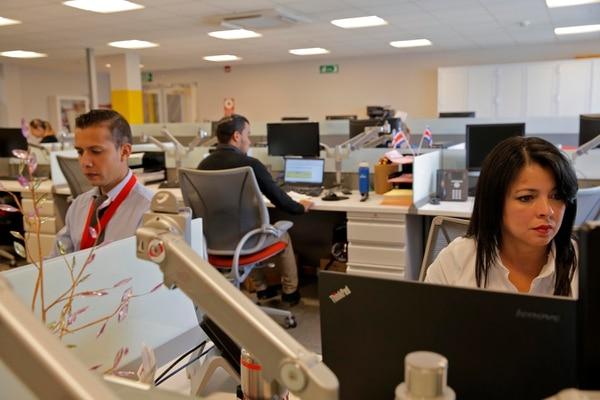 El empleo en firmas multinacionales creció de 7.706 a 118.245 trabajadores, entre el 2000 y el 2019, según las cifras de Cinde. Foto Mayela López / Archivo GN.