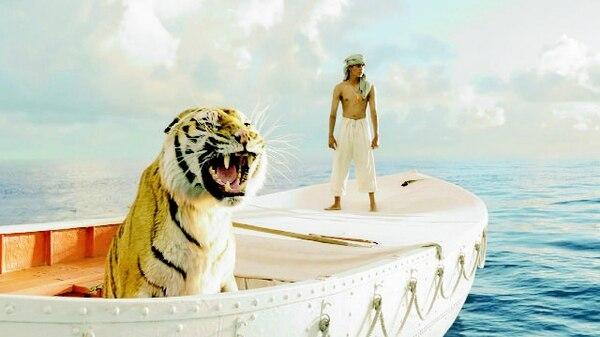 Un tigre de bengala y un joven son los únicos sobrevivientes después del hundimiento de un barco y, de ello, surge una historia fabuladora. DISCINE/LA NACIÓNEn el mar.