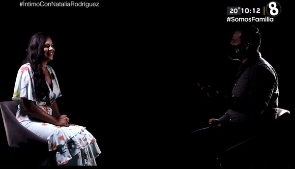 Douglas Sánchez, en Íntimo, fue el que entrevistó a Natalia Rodríguez. FOTO: Captura de pantalla