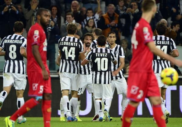 La Juventus goleó 4-0 al Catania por la décima fecha de la Serie A.