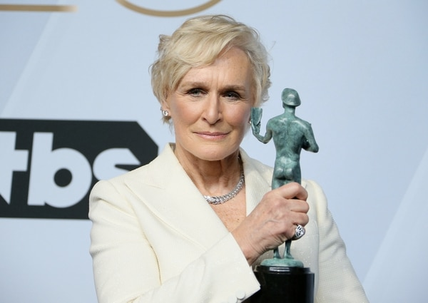 Glenn Close ganó el Screen Actors Guild por su papel en The Wife. Foto: AFP