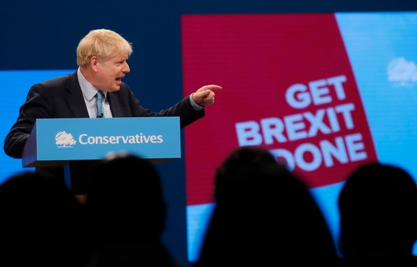 El primer ministro británico, Boris Johnson, dirigió un mensaje a la conferencia del Partido Conservador, este miércoles 2 de octubre del 2019 en Mánchester.