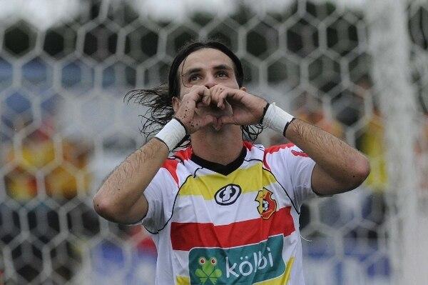 El 21 de abril, Yendrick Ruiz anotó para Herediano ante Belén. / Archivo