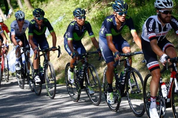Andrey Amador durante al accidentada 15° etapa del Giro de Italia.