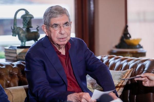 El expresidente Óscar Arias se había retirado temporalmente del PLN. Foto: José Cordero