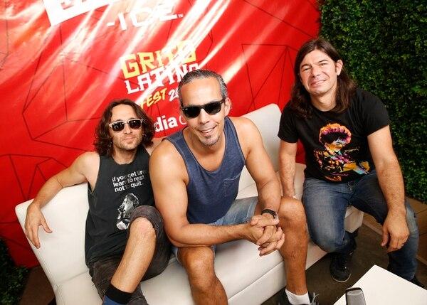 Luis Montalber, Massimo Hernández y Federico Miranda atendieron a medios nacionales e internacionales antes de su presentación en el Festival Grito Latino. Foto: Albert Marín.