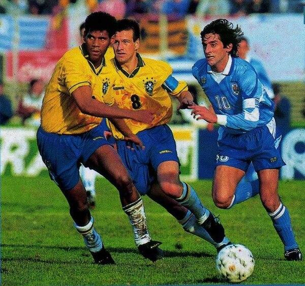 Brasil quería vengarse ganando la final de la Copa América de 1995 en el Centenario, pero Uruguay salió victorioso. | CONMEBOL
