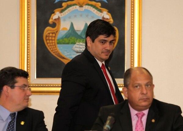 En marzo del 2016, Carlos Alvarado Quesada fue presentado como ministro de Trabajo de Luis Guillermo Solís. Foto: Albert Marín.