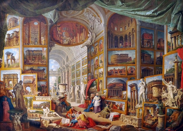 Pintor y arquitecto Giovanni Paolo Pannini.