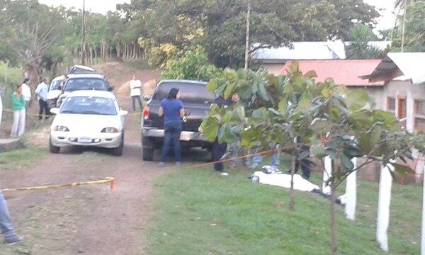 El levantamiento del cuerpo se realizó la mañana de este domingo.
