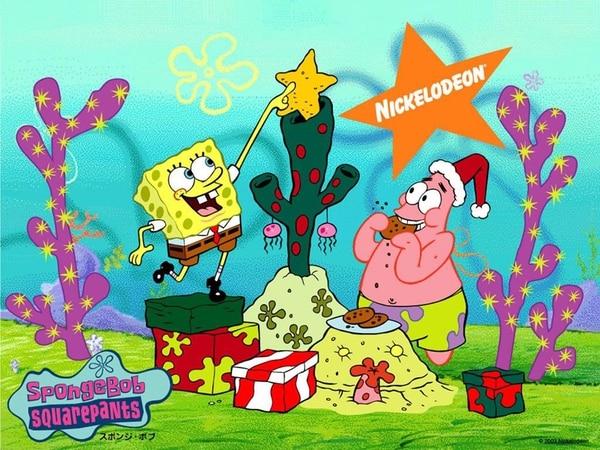 La estrella brilló bajo el mar. Bob Esponja y Patricio hicieron reír a los televidentes con sus ocurrencias de invierno en su segunda temporada, cuando estos personajes celebraron por primera vez la Navidad. Imagen promocional de NickelodeOn