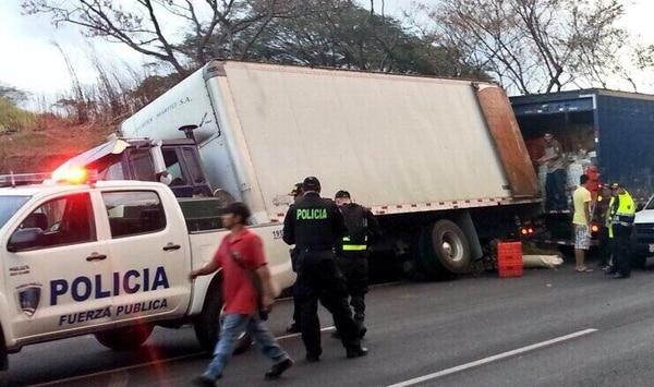 La madrugada de este viernes se recuperó el camión en la autopista General Cañas.