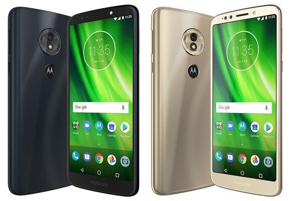 Este es el teléfono Motorola G6.