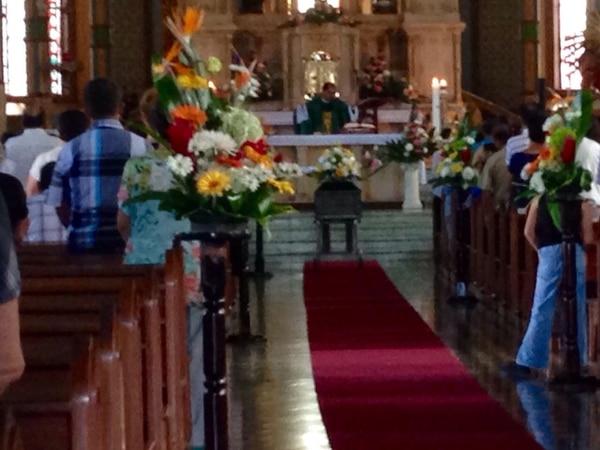 El funeral de Marito Mortadela se realizó en la iglesia católica de Moravia.