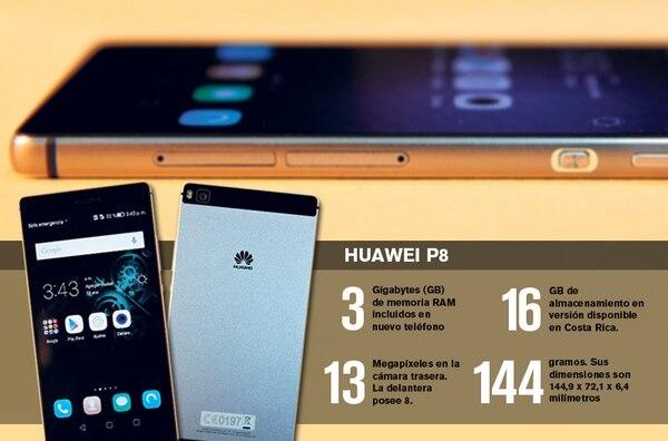 El P8 es el nuevo smartphone de alta gama del fabricante chino