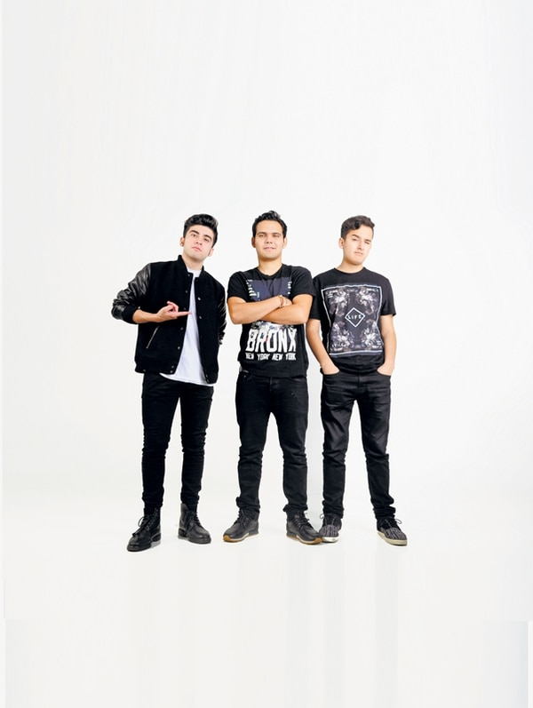 El colectivo 3BALLMTY está conformado por: Sheeqo Beat, DJ Otto y Erick Rincón (de izquierda a derecha). | MEYLIN AGUILERA
